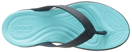 Crocs Capri V W - Sandalias de cuero mujer Blu (Navy/Pool)