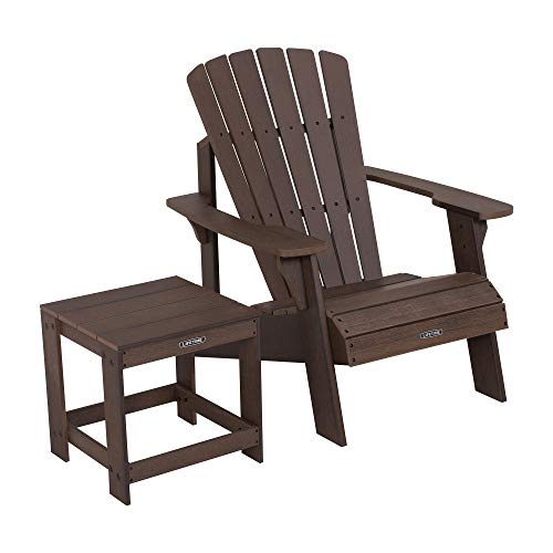 - Lifetime 60293 Adirondack Chair and Table Combo, Rustic Brown