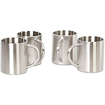 SKÖN Double Wall Stainless Steel Mugs (10 oz - Set of 4)