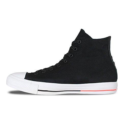 Converse Chuck 153792C Sneaker High black/white/lava, Schuhe Unisex:44