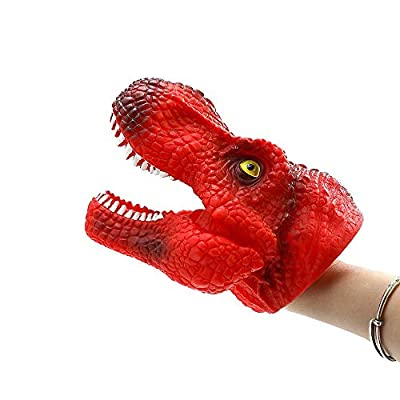 DAWEIF Creative Dinosaur Design Hand Puppet Toys Animal Head Doll Model Kids Costume Finger Gloves Toy Gift: Toys & Games