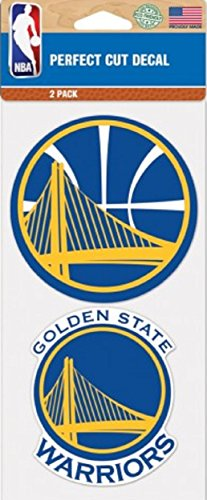 Golden State Warriors NBA Logo 2-Pack Perfect Cut Decal 4 x 8 by Patch Collection