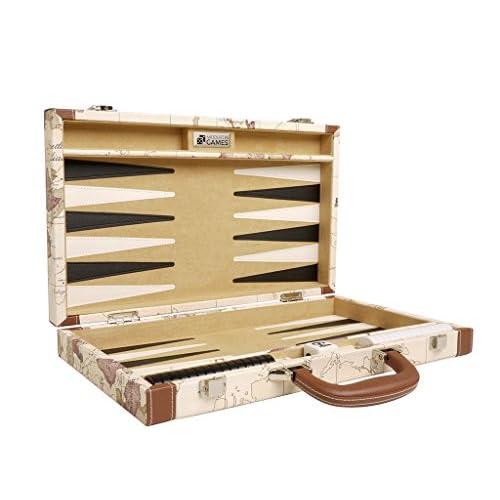 Kit de Backgammon de luxe de 15 pouces - Plateau blanc