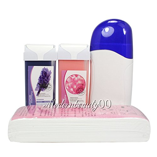 - Baisidai Rose & Lavender Roll-On Refill Depilatory Heater Wax Waxing Paper Hair Removal Strips Rose Set