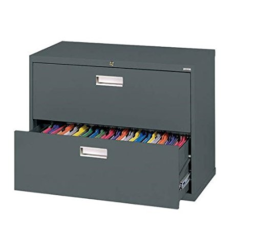 Sandusky Lee LF6A362-02 600 Series 2 Drawer Lateral File Cabinet, 19.25'' Depth x 28.375'' Height x 36'' Width, Charcoal by Sandusky
