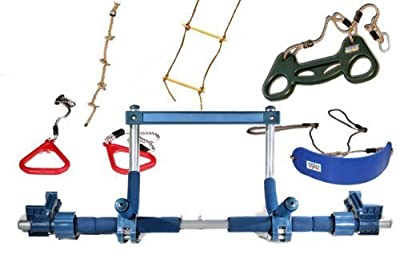 Gorilla Gym Kids Deluxe with Indoor Swing, Plastic Rings, Trapeze Bar, Climbing Ladder, and Swinging Rope