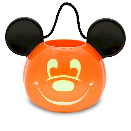 Disney Light-Up Jack O'Lantern Mickey Mouse Trick or Treat Bucket (Up O Lanterns Light Jack)