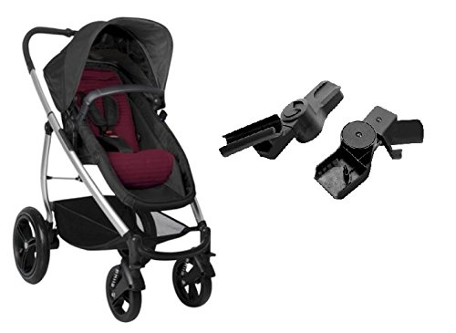 Phil and Teds Smart Lux Buggy Stroller With Carseat Adapter (Ruby)