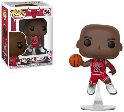 Vinyl Figure Chicago Bulls Michael Jordan Pop Includes Compatible Pop Box Protector Case Funko NBA