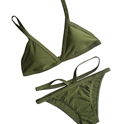 Amanod 2018 hot saleWomen Push-Up Padded Bra Beach Bikini Set Swimsuit Swimwear ()