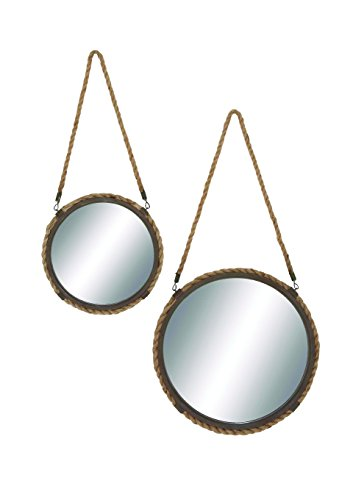 Woodland Imports 93934 Solar Styled Exquisite Metal Frame Mirror by Benzara