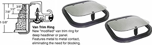 SFC/CRL 17 x 17 His-N-Hers Sunroof with Van Trim Ring High Performance Solar Glass