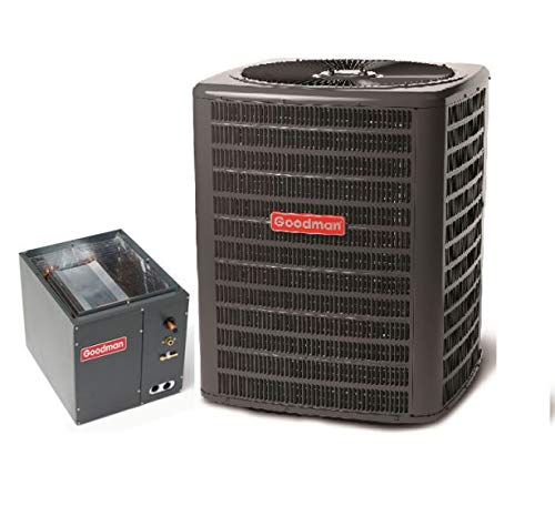 Goodman 3.5 Ton 15 Seer Heat Pump System with 4-5 Ton Upflow/Downflow Evaporator Coil GSZ140421 - CAPF4961D6 ()