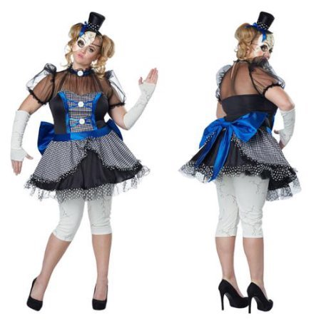 Men Halloween Costumes Ideas 2016 (California Costumes Women's Plus Size Twisted Baby Doll Adult, Blue/Black, 1X)
