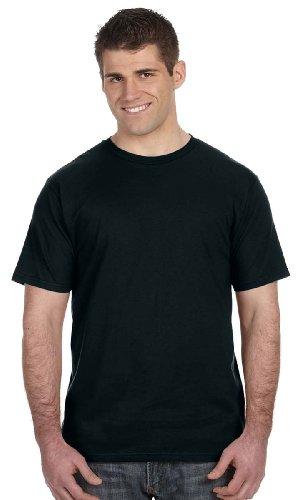 Spun Cotton T-Shirt, Medium, Blk (Mens Anvil)