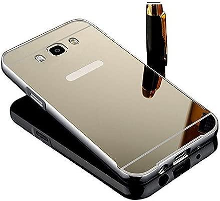 Vandot Caso Funda Carcasa para Samsung Galaxy J5 2016 J510 (no para Samsung Galaxy J5 2015 J500), Ultrafino del Metal de Aluminio Espejo Efecto PC ...