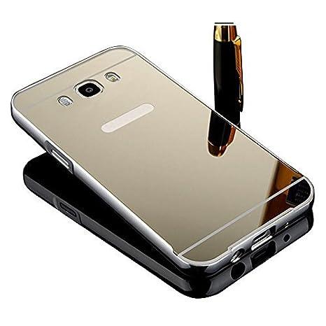 Vandot Caso Funda Carcasa para Samsung Galaxy J5 2016 J510 (no para Samsung Galaxy J5 2015 J500), Lujo Ultrafino del Metal de Aluminio Espejo Efecto ...