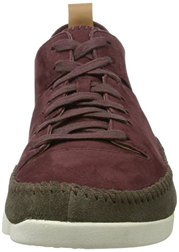 Clarks Originali Herren Trigenic Flex Sneaker Violett (burgundy Nubuck)