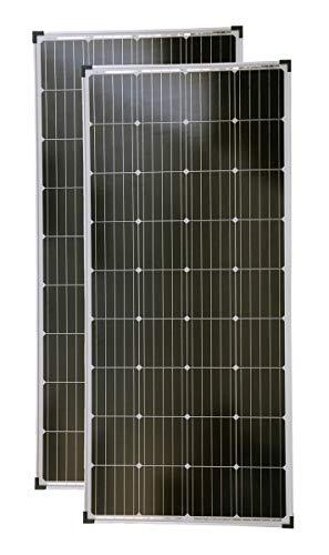 solartronics Solarmodule 2 Stück 160 Watt Mono Solarpanel Solarzelle 1480x680x35 92046