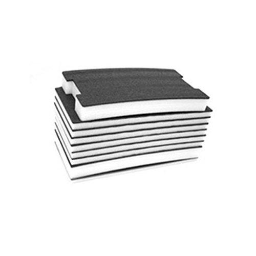 FastCap FOAM30MMB-W 30-MM Thick 2' x 4' Kaizen White/Black Foam w/ 1/8