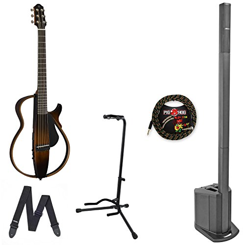 Bose L1 compact & Yamaha SLG200S Steel String Silent Guitar w/ cable & Stand - Bundle