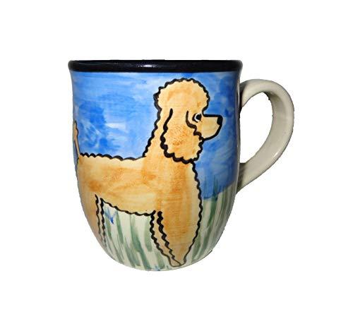 Karen Donleavy Designs Deluxe APRICOT Poodle Mug