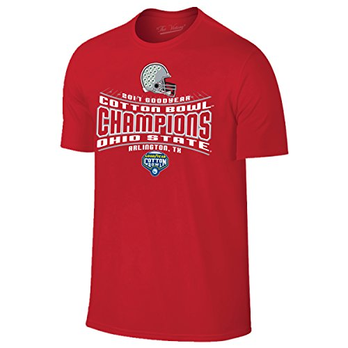 Ohio State Buckeyes 2017 2018 Cotton Bowl Champions Red T Shirt  Xl