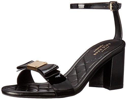 Cole Haan Femmes Tali Bow Haute Robe Sandale Noir Brevet