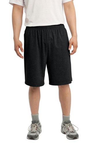 Sport-Tek - Jersey Knit Shorts with Pockets. ST310 - X-Large - Black