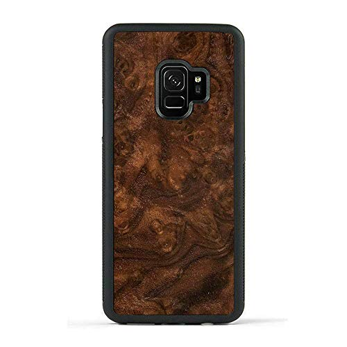 Carved | Samsung Galaxy S9 | Luxury Protective Traveler Case | Unique Real Wooden Phone Cover | Rubber Bumper | Walnut Burl