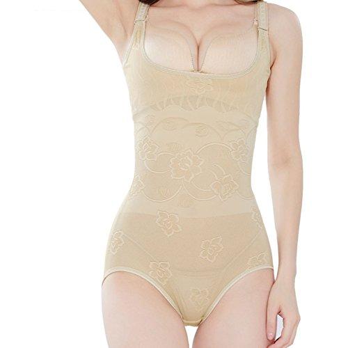 9d0bf2f2d9f7ad Moresave Damen Formende Bodys Taille Trainer Abnehmen Shapewear Korsetts  Bauch Kontrolle Nude cV9Pt33PNr