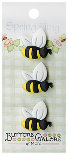 Spring Buttons-Bees