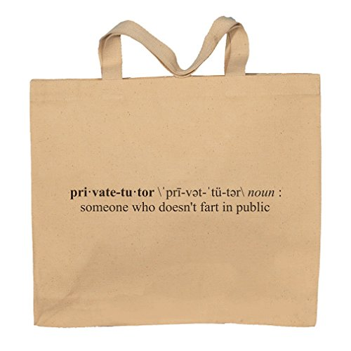 Private Tutor Funny Definition Totebag Bag by T-ShirtFrenzy