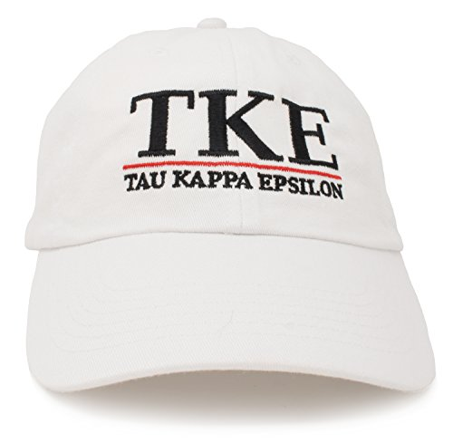 Tau Kappa Epsilon | Classic TKE Fraternity Collegiate Line Baseball Rush Hat Cap ()