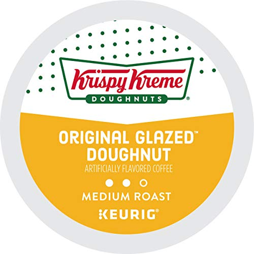Krispy Kreme Original Glazed Doughnut Coffee single serve capsules for Keurig K-Cup pod brewers (72 Count)