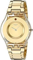 Swatch Women's SFK399G Analog Display Quartz Gold Watch