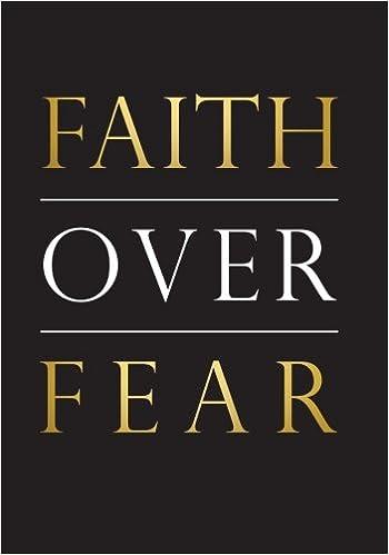 Amazon Com Faith Over Fear Notebook 7x10 Softcover An