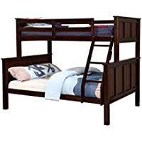 HOMES: Inside + Out ioHOMES Fidel Contemporary Bunk Bed, Twin/Full, Dark Walnut