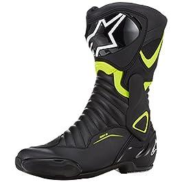 Alpinestars 2220 SMX-6 V2 Boots (Black and Yellow, 42 EU)