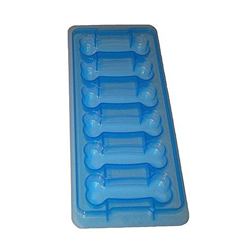Home-X - Dog Bone Shaped Ice Cube Tray, Easy-Release, Food Grade, Large Ice Cube Tray Makes 6 Cubes Per Use, Stackable Design is Durable and Dishwasher Safe (Large Bones) -
