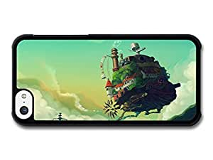 MMZ DIY PHONE CASEHowl's Moving Castle Miyazaki Illustration Blue Sky case for iphone 4/4s