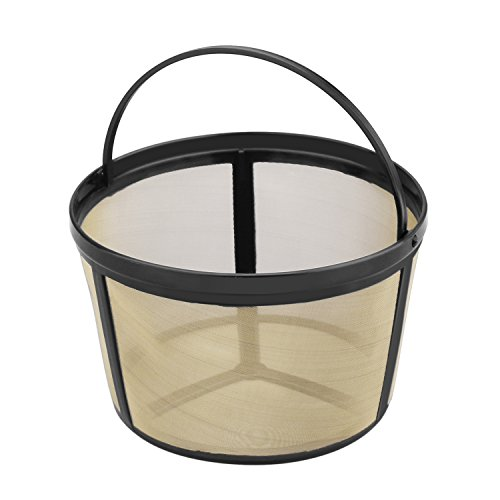 Nicelucky Basket-Style Gold Tone Permanent Coffee Filter Designed for Mr.Coffee 8-12 Cup Coffeemakers (Coffee Maker Mister Coffee compare prices)