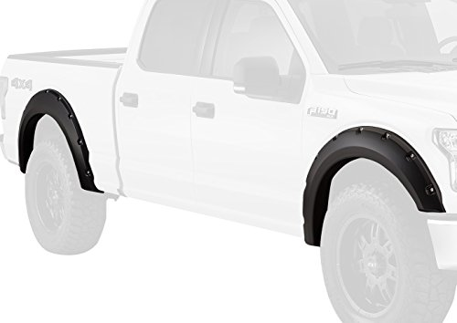 Bushwacker 20935-02 Matte Black Pocket Style Fender Flare for Ford, (Set of 4)