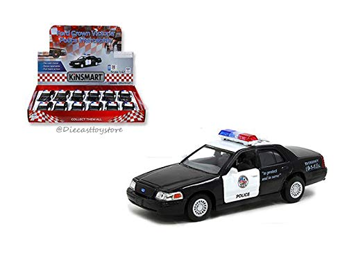 - New DIECAST Toys CAR KINSMART 1:42 Display - Ford Crown Victoria Police Interceptor 1 Item Without Retail Box KT5327D
