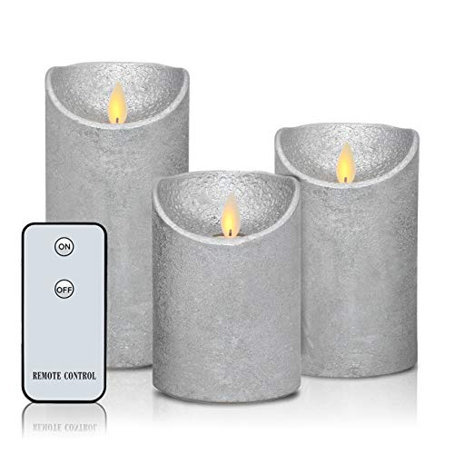 Flameless Candles Real Wax Battery Operated Candles H3.5