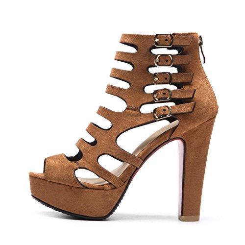 di di sandali svuotata spillo stivali 45 a freddo giallo tacchi super sono grind donne pesce stivali le sexy sandali bocca xqn6ZwfxCI
