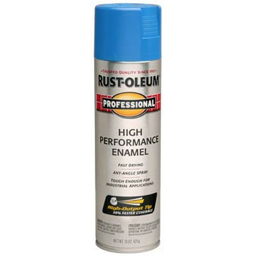 Rust-Oleum 7524838 Professional High Performance Enamel Spray Paint, 15 oz, Safety Blue
