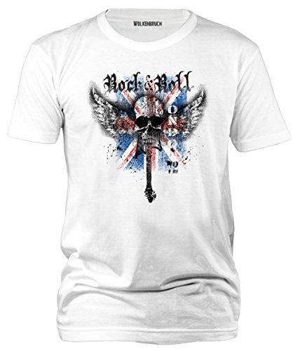 Wolkenbruch® T-Shirt Rock`n`Roll London 72, Union Jack, Gr.XL