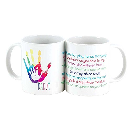 Daddy Child in Fathers Handprint Poem White 11 Oz. Ceramic Coffee Cup (Handprint Poems)
