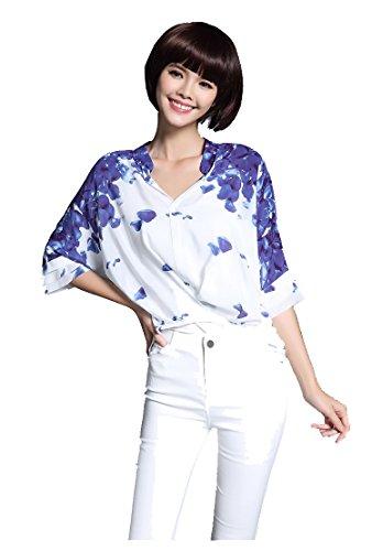Floral Print Silk Shell : - 6